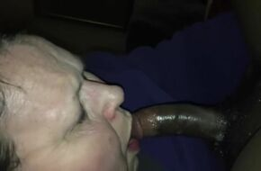 Black bbw sloppy blowjob