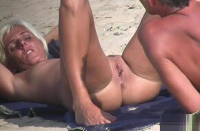 Nudist mature couple
