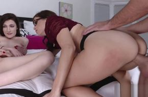 Mom and daughter threesome